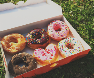 Central Park, donuts, and new york city image