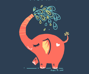 elephant, funny, and little image