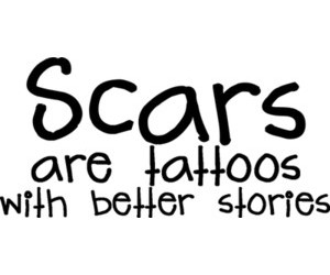 scars, tattoo, and story image