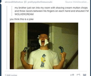 funny, wolverine, and tumblr image