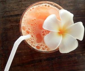 drink, flower, and orange image