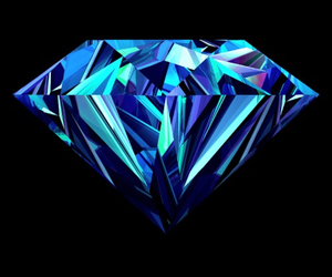 diamond, blue, and wallpaper image