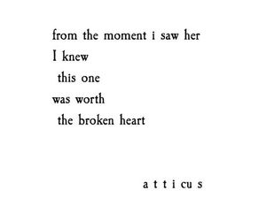 broken, heart, and her image
