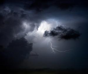 sky, dark, and lightning image
