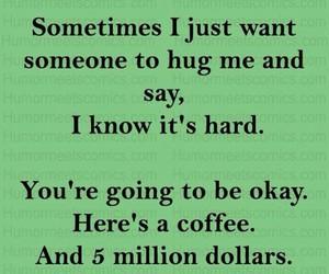 coffee, funny, and hug image
