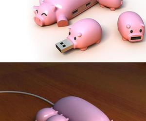 OMG, pig, and usb image