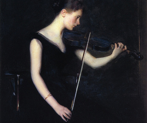 violin, art, and painting image