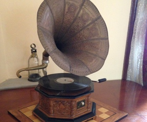 gramophone, music, and old image