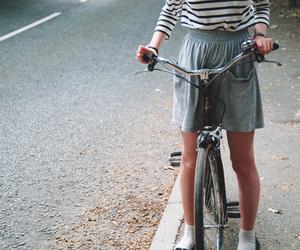 girl, bike, and vintage image