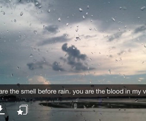 rain, quote, and snapchat image
