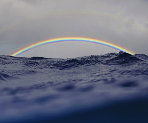 rainbow, ocean, and water image