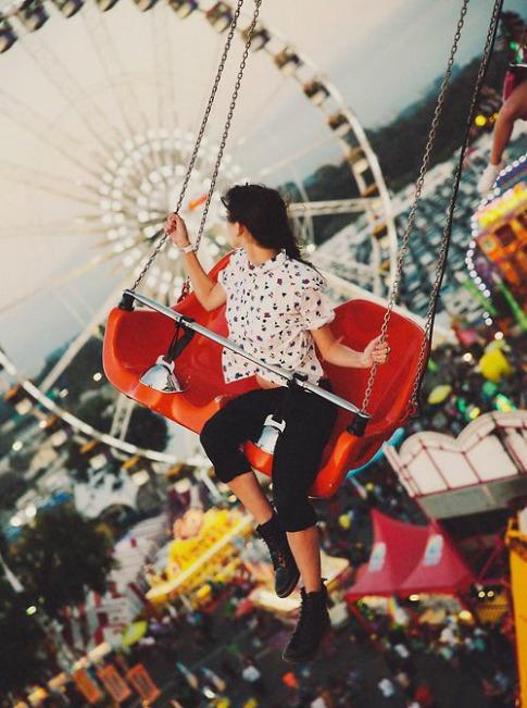 girl, fun, and vintage image