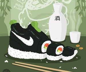 nike, sushi, and rice image