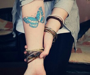 bangles, butterfly, and cool image