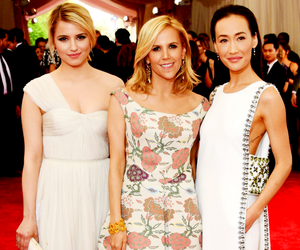 dianna agron, maggie q, and met gala image