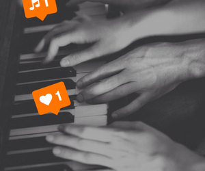 love, music, and piano image