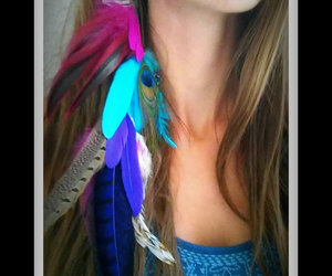 beach, beauty, and feather image