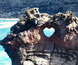 heart, sea, and rock image