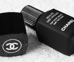 chanel, black, and nails image
