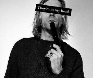 kurt cobain, nirvana, and gun image