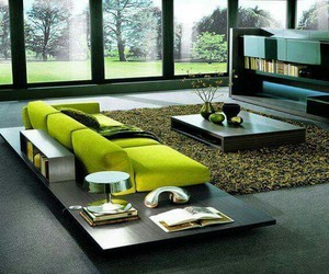 green, living room, and house image