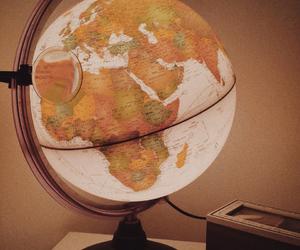 globe, travel, and vintage image