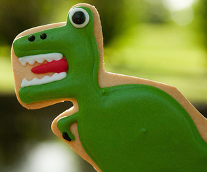 cookie, green, and dinosaur image