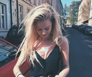 girl, beautiful, and blonde image