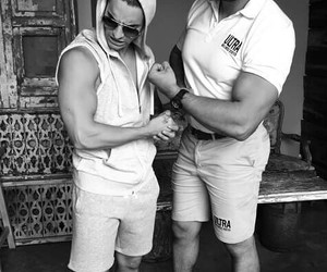 blanco y negro, gym, and reto image