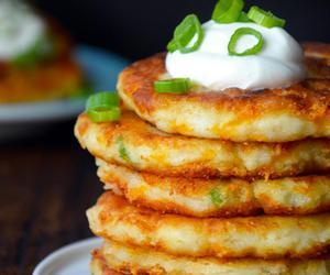 food, pancakes, and potato image