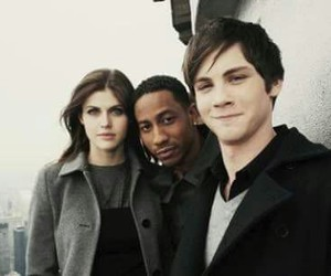 percy jackson, logan lerman, and alexandra daddario image