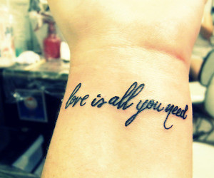 love, tattoo, and need image