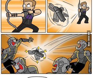 Avengers, hawkeye, and funny image