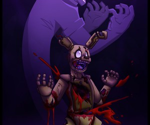 purple guy and springtrap image