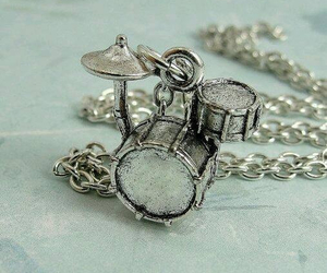 charm, drum set, and drummer image