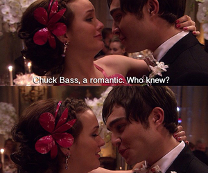 blair waldorf, chuck bass, and ed westwick image