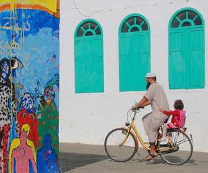 baby, bike, and colorful image