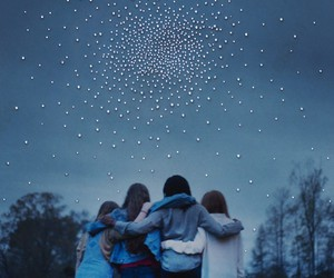 girls, night time, and sky image