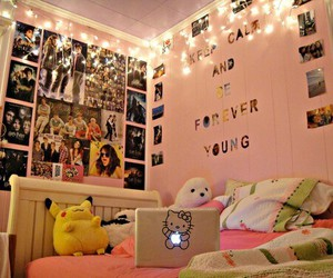 lights, bedroom, and decorations image