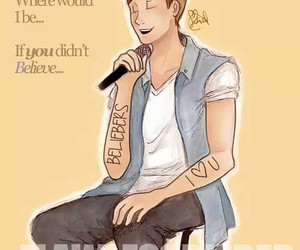 justin bieber, believe, and drawing image