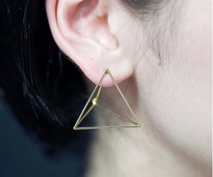 earrings, accessories, and pyramid image