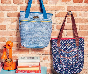 bags, books, and pretty image