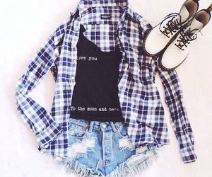 boots, flannel, and I Love You image