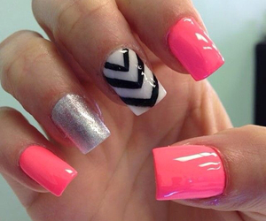 fake nails, nail art, and nails image