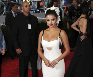 selena gomez, dress, and girl image