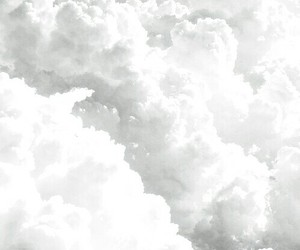 white clouds image