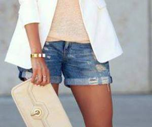 outfit, shorts, and legs image
