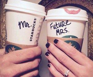 love, couple, and starbucks image