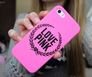 pink, love pink, and case image