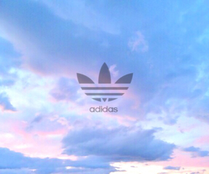 adidas, blue, and Logo image